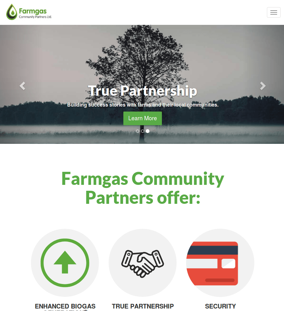 Image of FarmGas Website