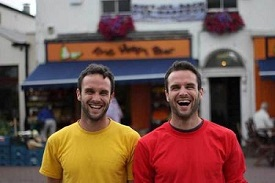 Photo of David and Stephen Flynn, owners of The Happy Pear in Greystones, Co. Wicklow.